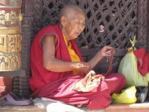 An old Buddhist monk