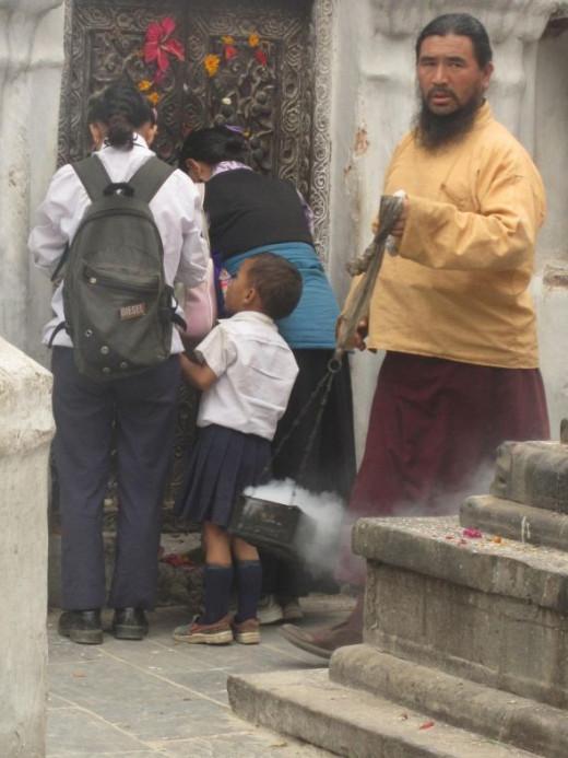 Taken at Boudah Stupa in Kathmandu