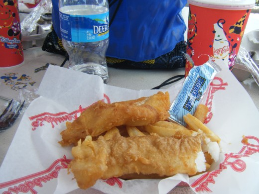 Fish and chips at the UK is a quick service meal