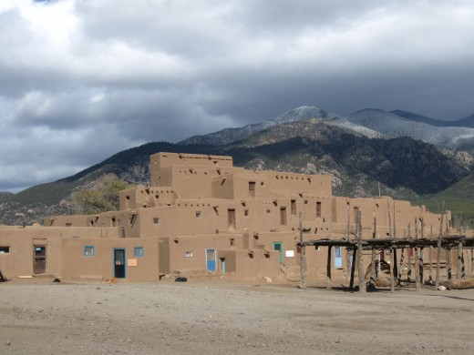Condominium style dwellings existed in the United States long before Columbus arrived.  View of Taos Pueblo (some units still occupied) in Taos, New Mexico.