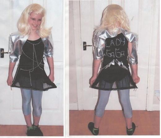 how to make a lady gaga costume