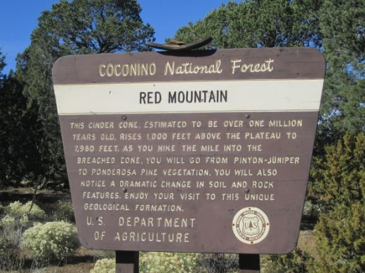 The Red Mountain trailhead