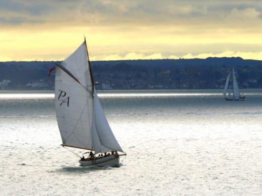 White sailing boats
