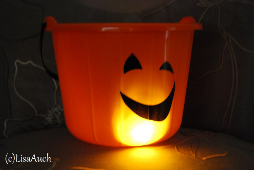 put a torch inside for an instant Halloween Decoration
