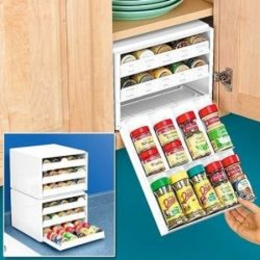 Organize the Kitchen: Use racks and risers
