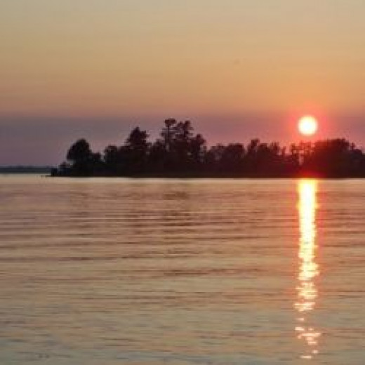 The view from our island campsite on Kabetogama Lake