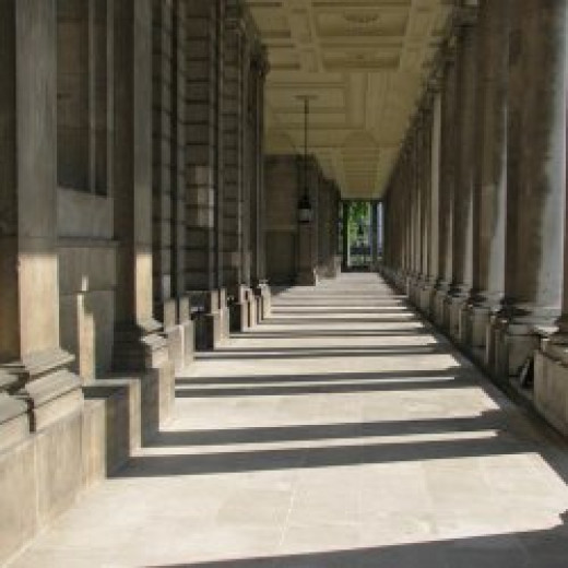 One of the colonnades of the former Royal Hospital for Seamen at Greenwich