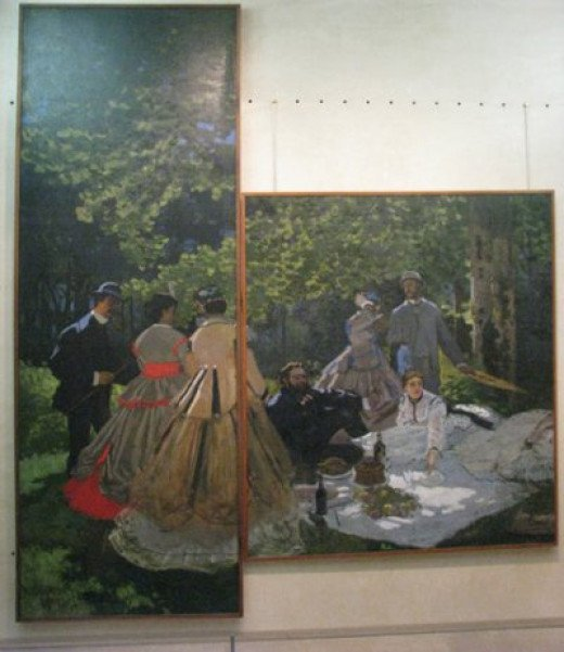 Monet's version of Dejeuner sur l'Herbe (Luncheon on the Grass)