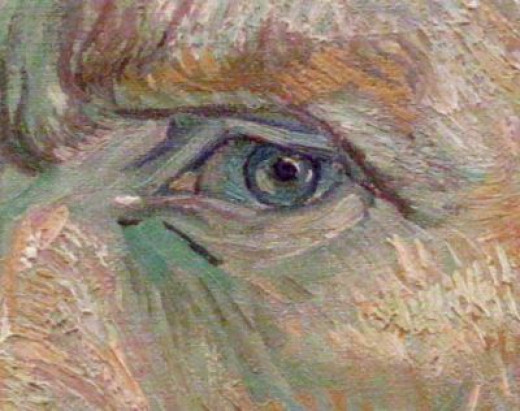 Detail from a self-portrait of Vicent Van Gogh