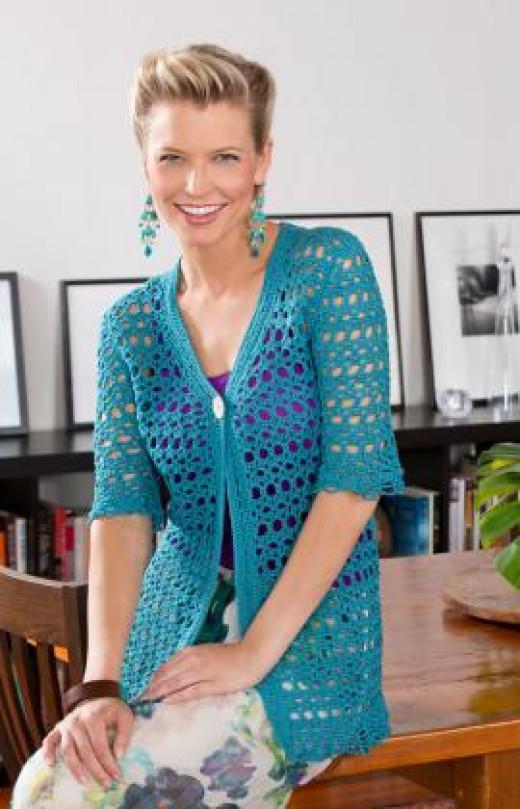 Open work Light Crochet Cardigan