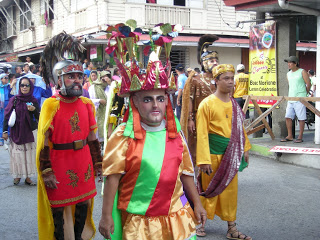 I took this photo during the opening of the  Moriones Festival Parade in Boac, 2012