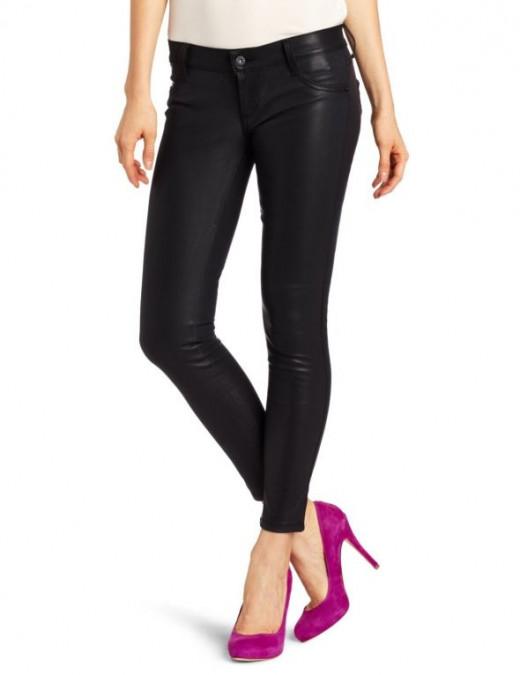 James Jeans Women's Stiletto Faux Leather Jean