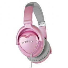 Pink Heart Shaped Headphones