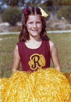 My first year as a cheerleader, 4th grade