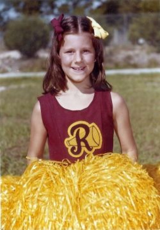 My first year as a cheerleader, 4th grade