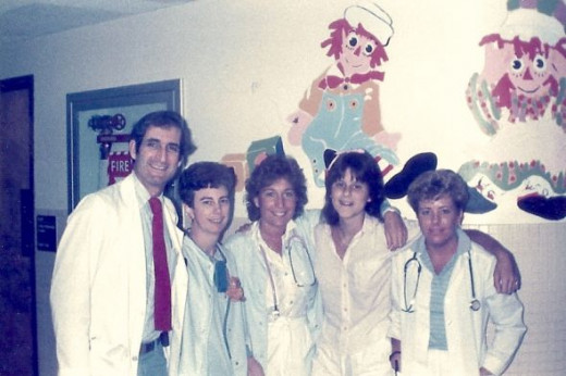 Me at 14 with some of the fabulous nurses and doctor