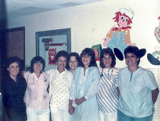 Me surrounded with nurses.  When I look at these photos again, I am amazed at how happy I was, how happy the nurses were too.  This was the night crew.  ALL of my nurses were amazing.