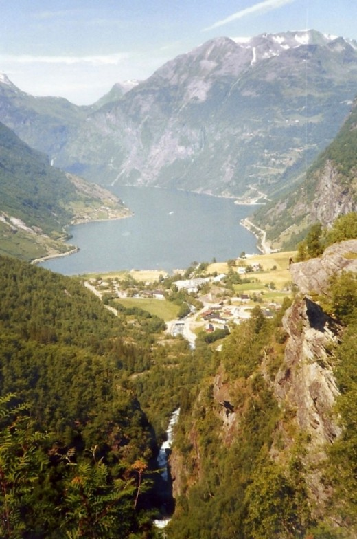 Geiranger Fjord, arguably the most famous tourist attraction in all of Norway and one of the most beautiful places on earth.