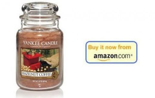 Yankee Candle hazelnut coffee candle