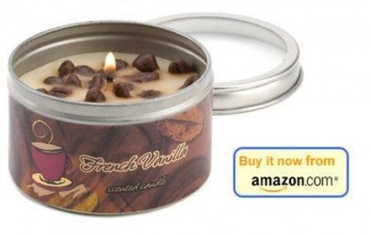 French vanilla coffee scented candle