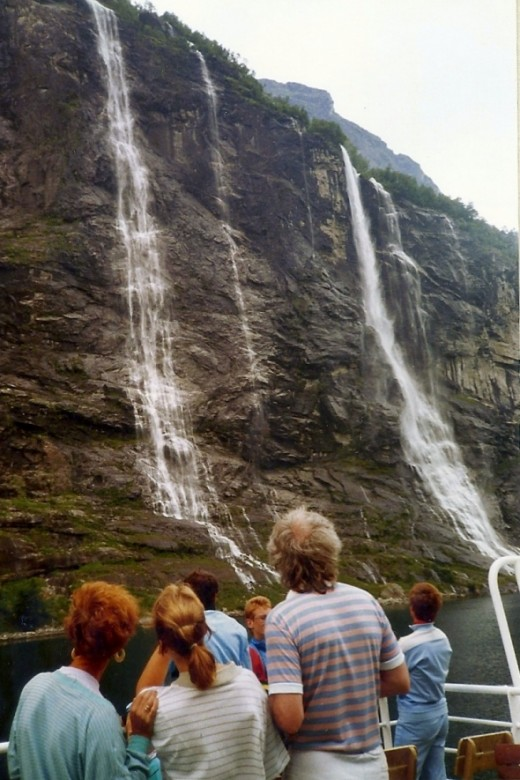 And more waterfalls.  That's my host family and friend looking at them.