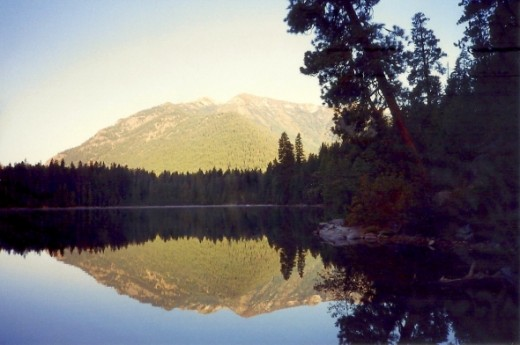 Peaceful reflective serenity at Domke Lake.  I went on a hike with 3 other women to this lake.  Simply incredible.
