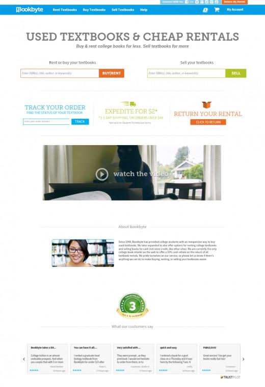 Bookbyte Homepage
