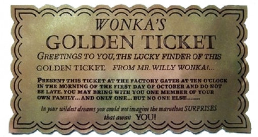 Willy Wonka & The Chocolate Factory  Golden Ticket - Front