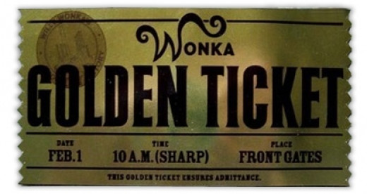 Charlie & The Chocolate Factory  Golden Ticket - Front