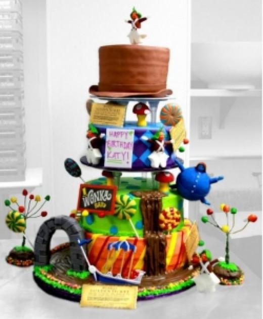 Katy Perry's Wonka Party Cake