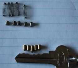 Lockwood digital deadlock pins and key