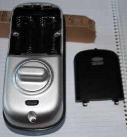 battery cover removed lockwood digital deadlock