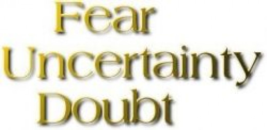 FUD Fear, Uncertainty and Doubt