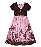 Rare Editions Pink Dot Dress with Shrug. Available at Dillard's. Sizes 7-16. $45.  photo credit, Dillard's