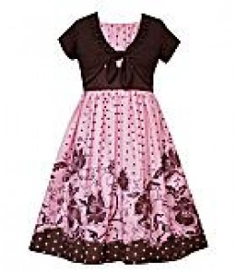 Rare Editions Pink Dot Dress with Shrug. Available at Dillard's. Sizes 7-16. $45.  photo credit, Dillard's