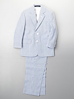 Lord and Taylor Guys Striped Seersucker Suit. $96 sale. photo credit, Lord and Taylor