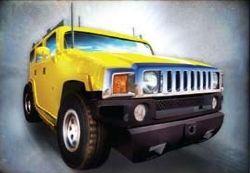 05 Hummer H2 - Yellow