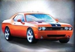 '06 Challenger Concept Hemi - Orange/Black Stripe