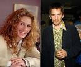 Julia and Ethan Hawke