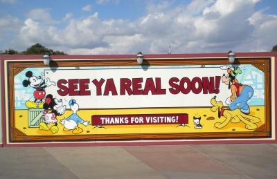 Exit at Disney California Adventure