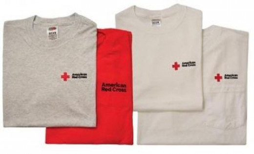 Donate by purchasing a Red Cross Shirt