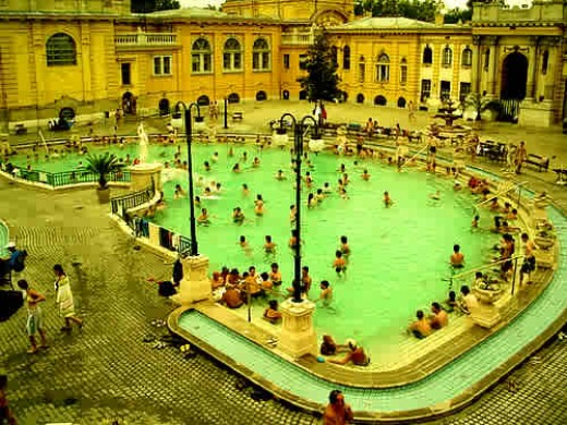 One of many thermal baths and spas