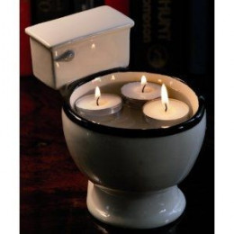 Fill The Toilet Bowl Mug With Floating Candle