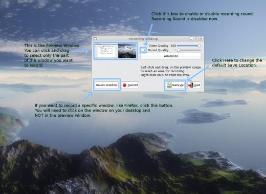 Using gtk-recordmydesktop