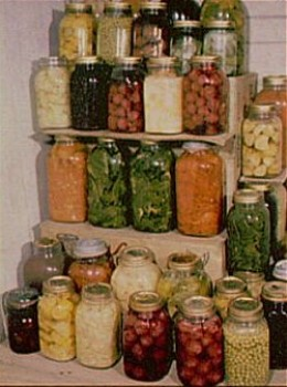 a full pantry was a source of pride for the urban farmer during the World Wars