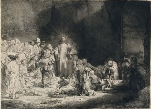 Rembrandt's 'Christ Preaching' circa 1649
