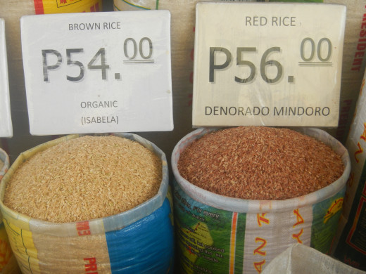 Rice for sale in the market (organic)