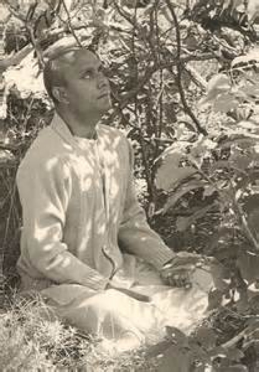 Sri Chinmoy in Samadhi
