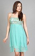 5. Aqua Paneled Skirt Dress from Sue Wong. $395. Available at edressme.com. photo credit, edressme.com