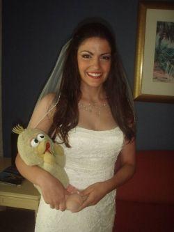 Big Bird on my wedding day in Curacao